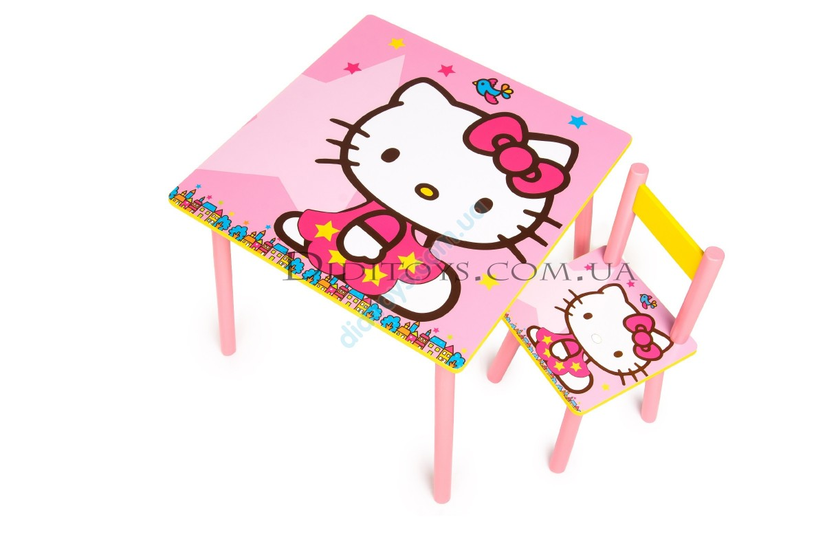 Детский столик  Hello Kitty с шариками 0006A (60х60)